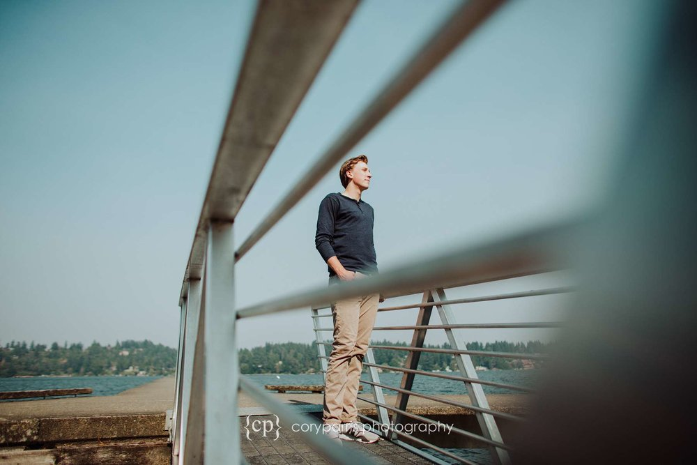 Wil's senior portraits on Mercer Island at Luther Burbank Park