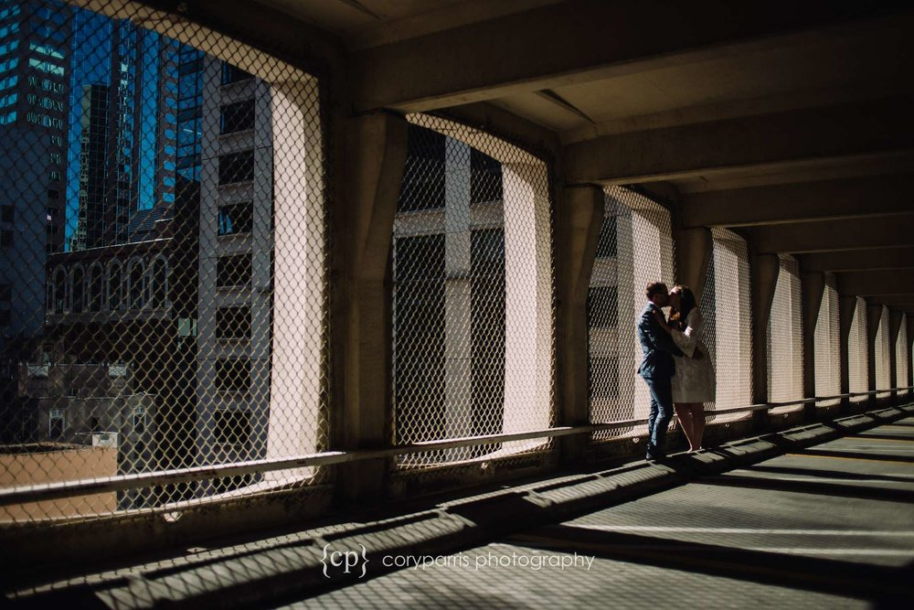 I love shooting wedding images in parking garages.