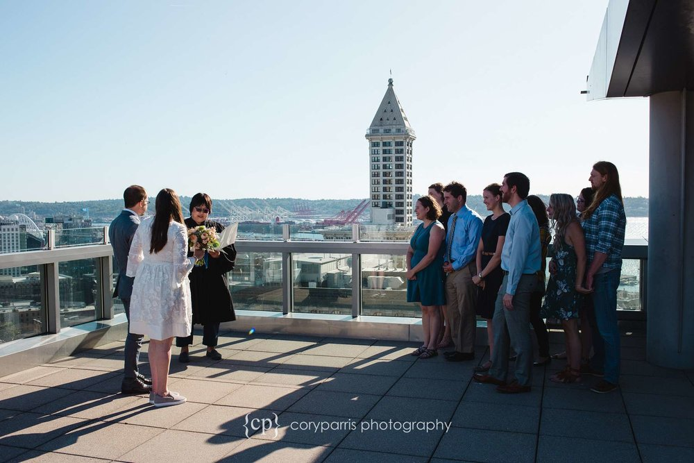 Rooftop wedding at the courthouse. You elope and get a view like this!