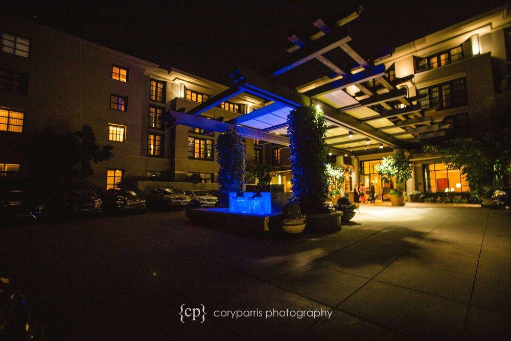 Bellevue Club at night