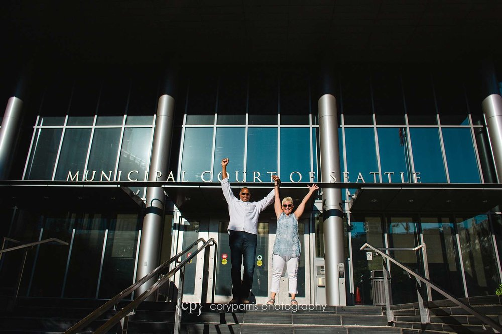 Elizabeth and Bob eloped at the Seattle Municipal Courthouse!