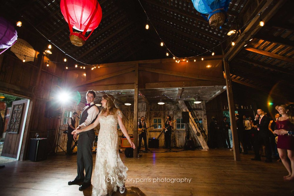 First dance inside the barn at Storybook Farm in Redmond.
