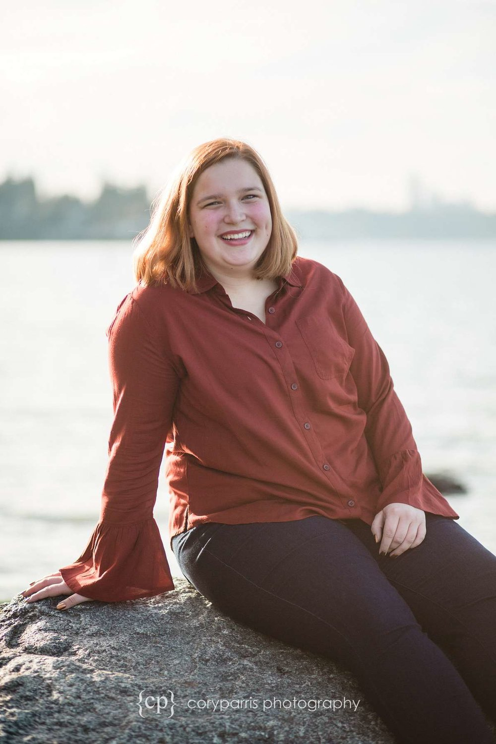 Mercer Island Senior portraits on the beach