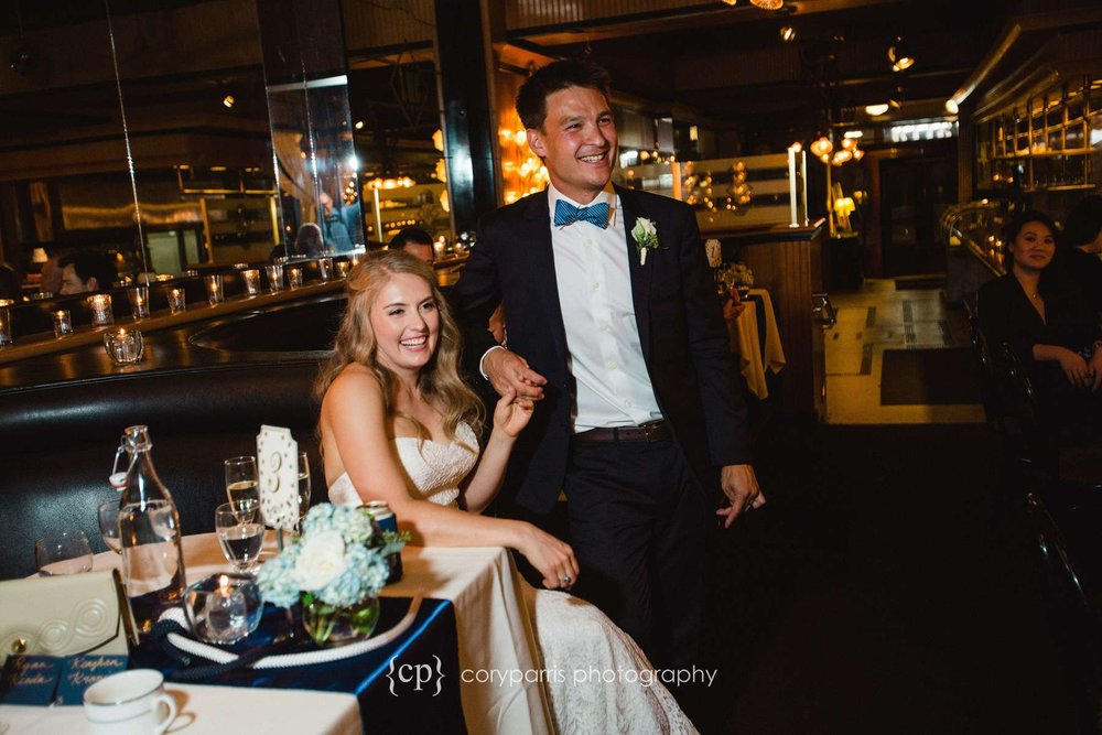 Wedding reception at Lake Union Cafe