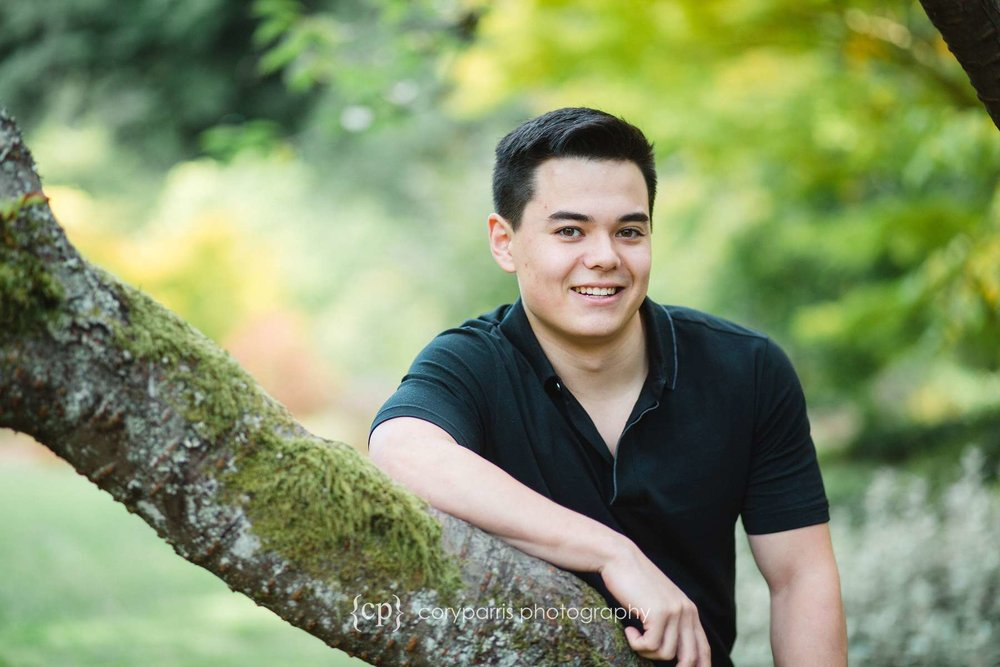 Bennett's senior portraits at the Washington Park Arboretum