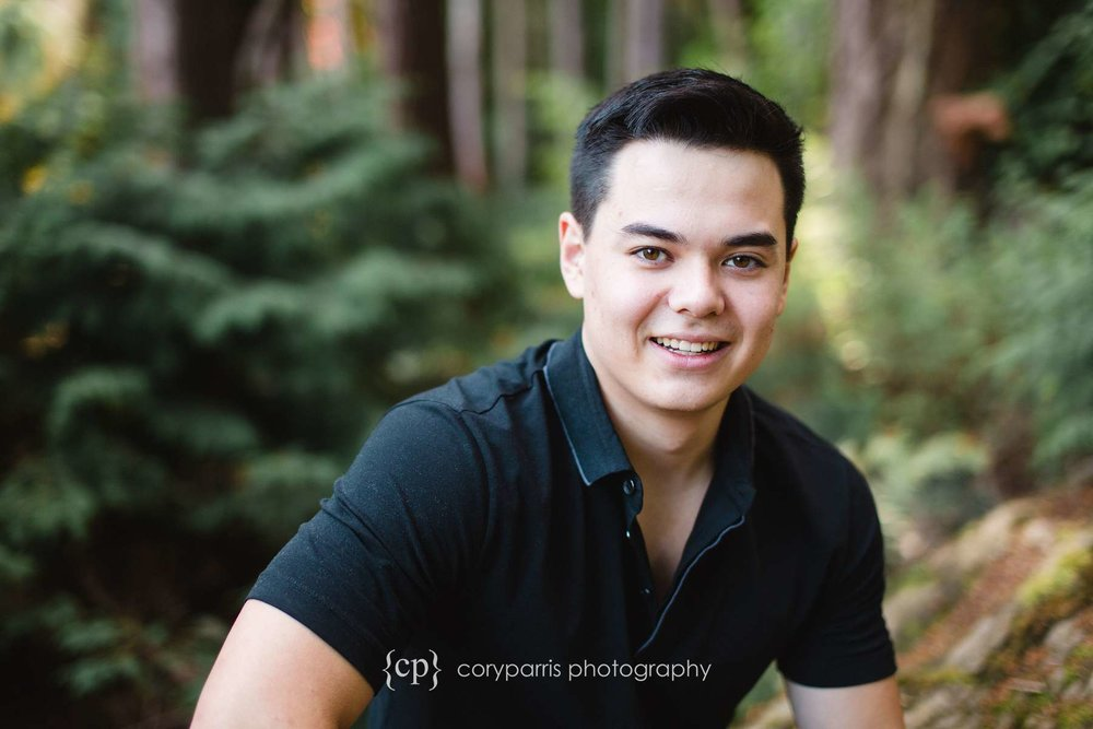 High school senior portraits at the Washington Park Arboretum in Seattle