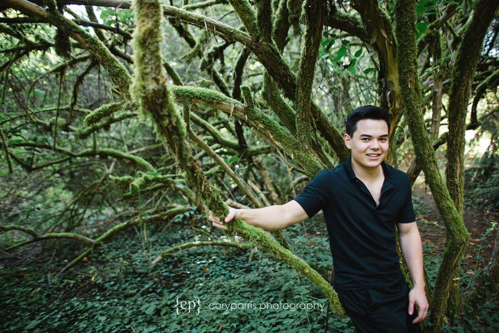 High School Senior portraits at the Washington Park Arboretum
