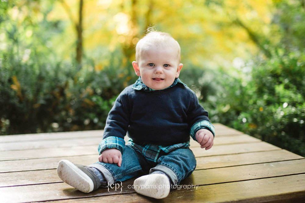 Smiling baby portrait photography
