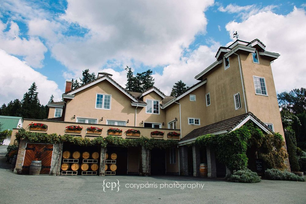 DeLille Cellars Chateau in Woodinville is a beautiful wedding venue.
