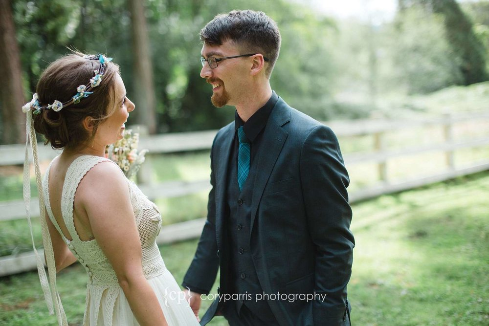 First look at DeLille Cellars Chateau wedding photography