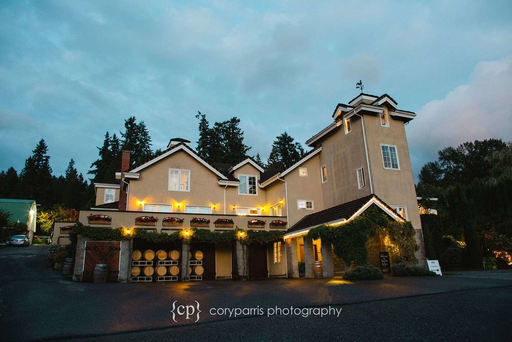 DeLille Cellars Chateau wedding venue in Woodinville