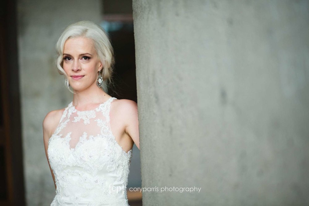 Bridal portrait at UW Seattle wedding photography
