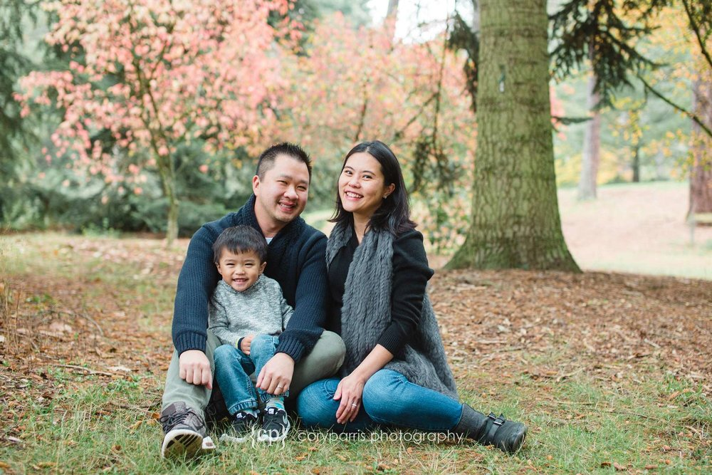 Seattle family portraits in the fall leaves