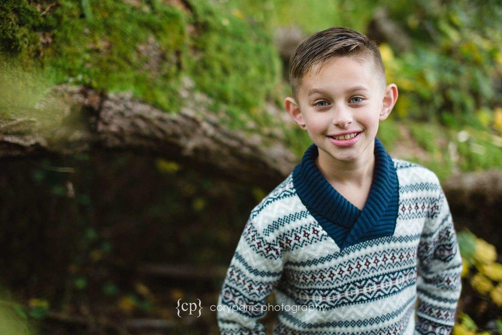 Smiling boy Seattle portrait photography