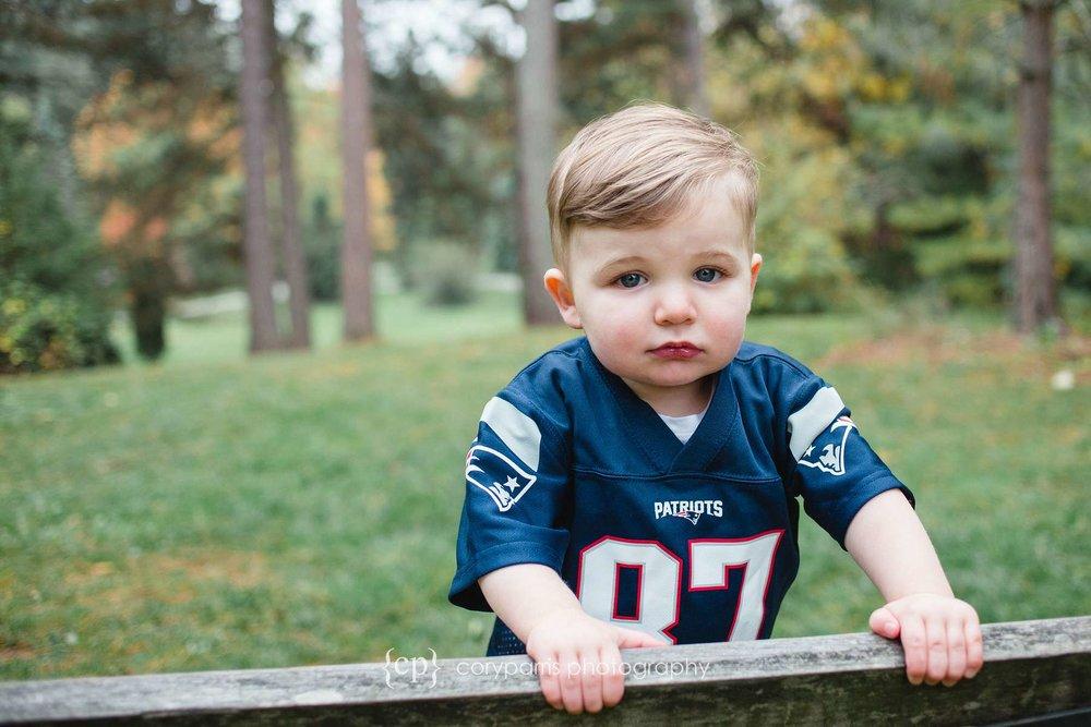 Adorable baby in Gronk uniform