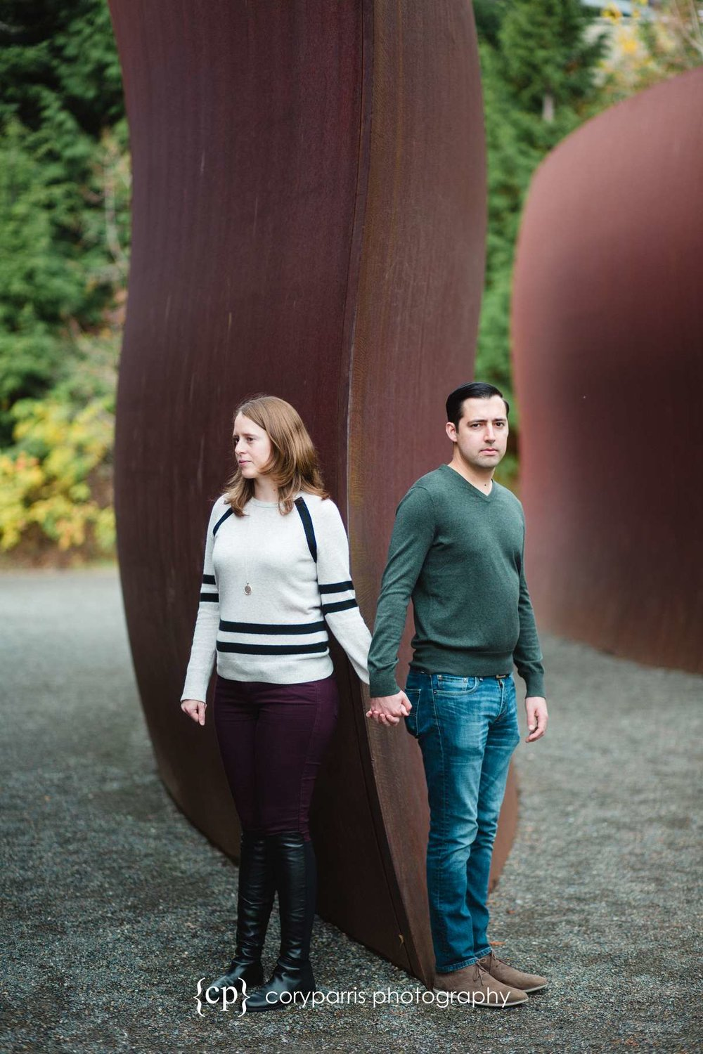 Olympic Sculpture Park Engagement Portrait