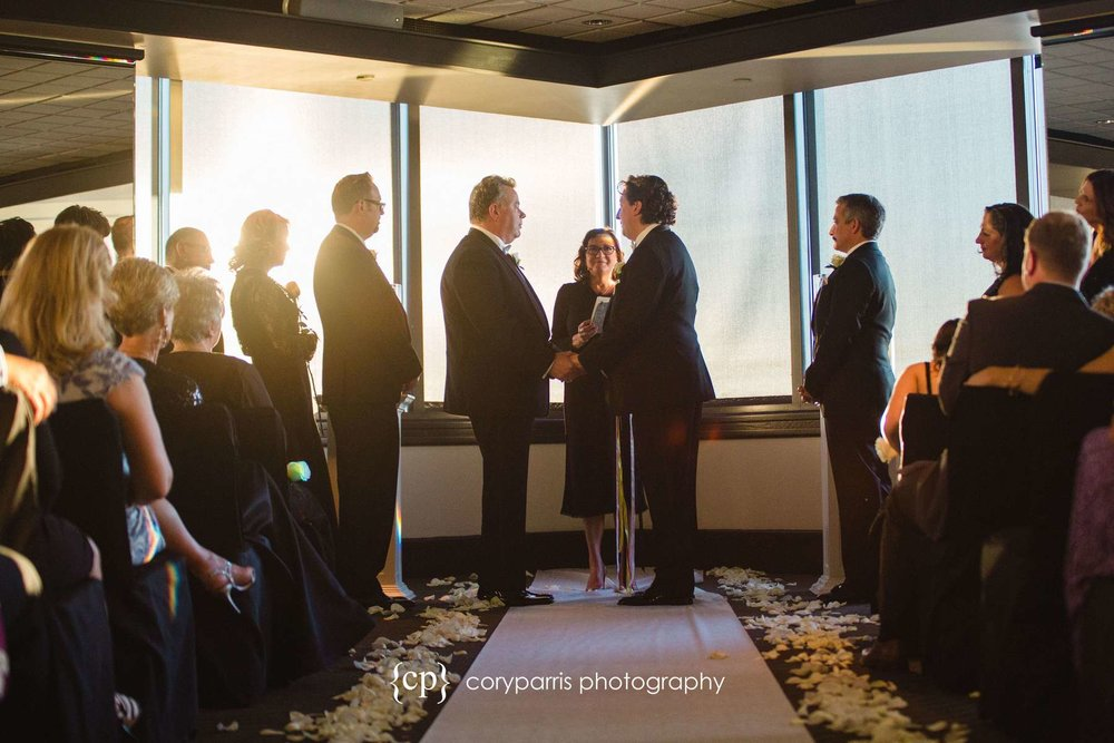 Columbia Tower Club wedding ceremony
