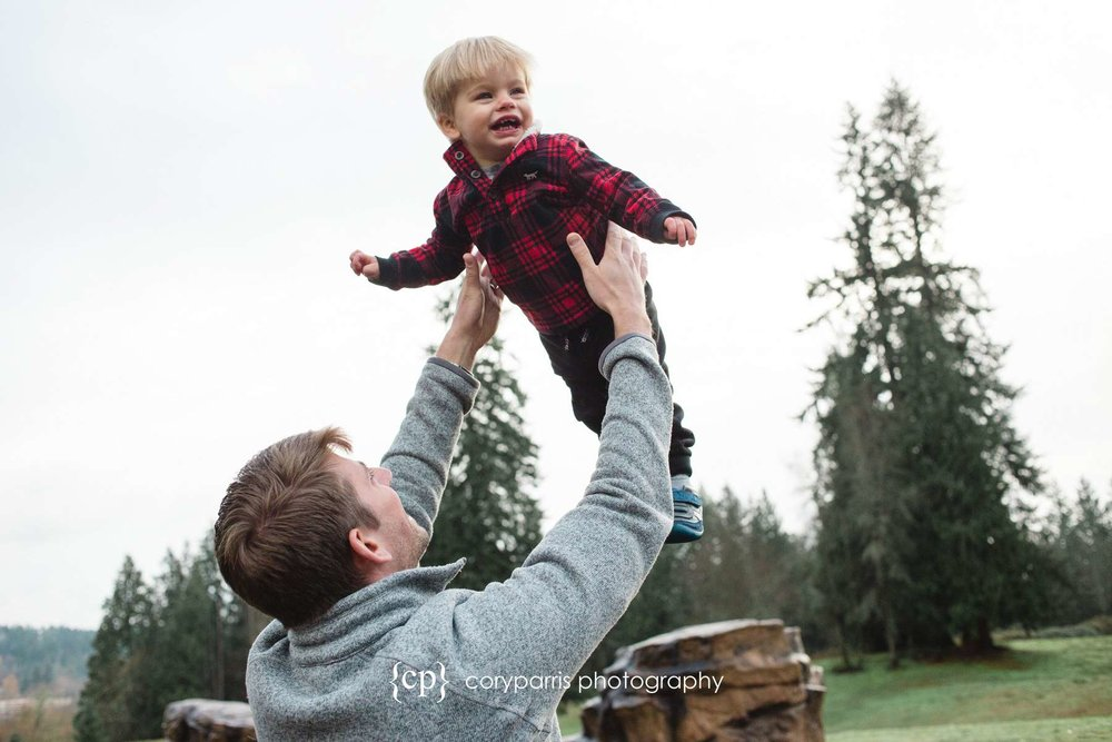 It is fun when dad helps you fly!