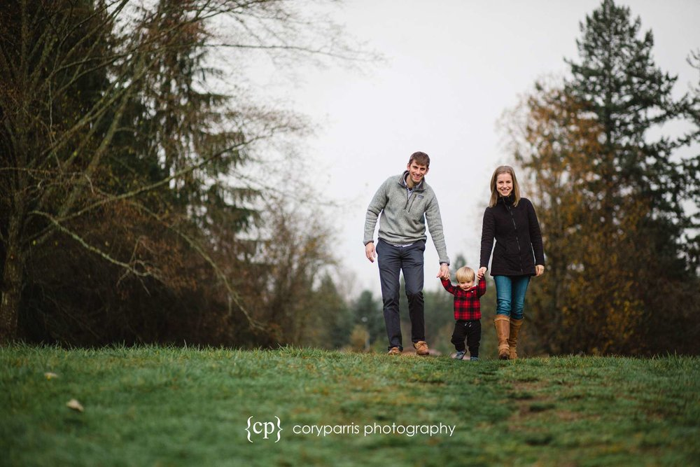 Winter family portraits in Seattle area
