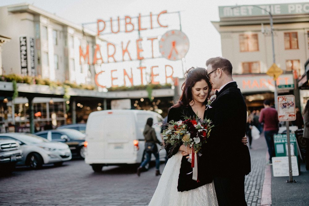 Seattle wedding photographer cory parris photography pike place market seattle wedding portrait junglespirit Images