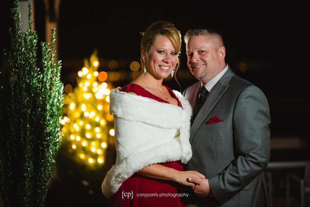 Night wedding portrait at the Inn Above the Market