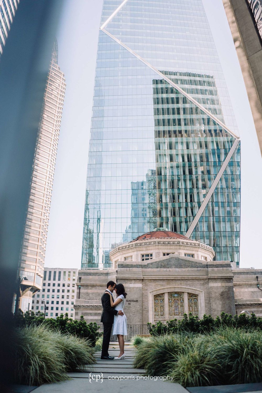 Wedding portrait downtown Seattle