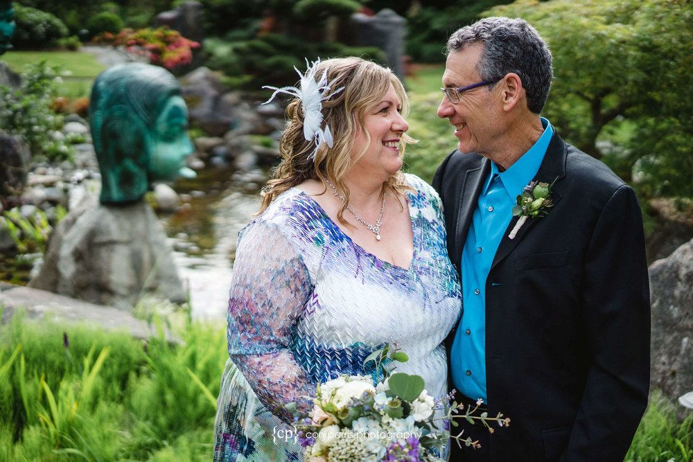 Mary and Don before their wedding at Willows Lodge in Woodinville. I love the way you can feel their emotion for each other in this image!