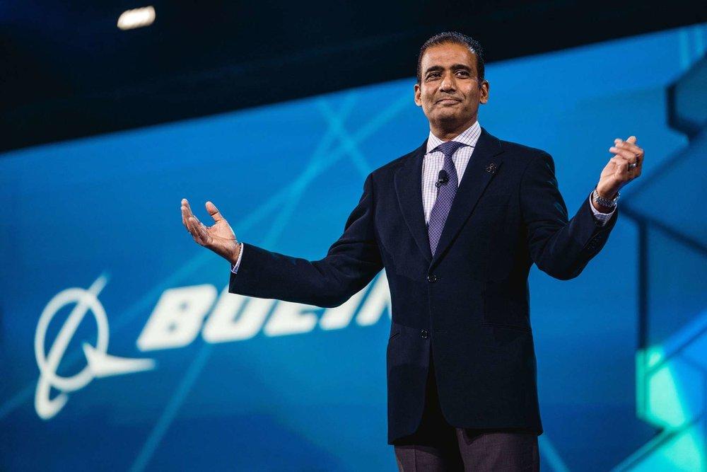 Boeing vice president speaking