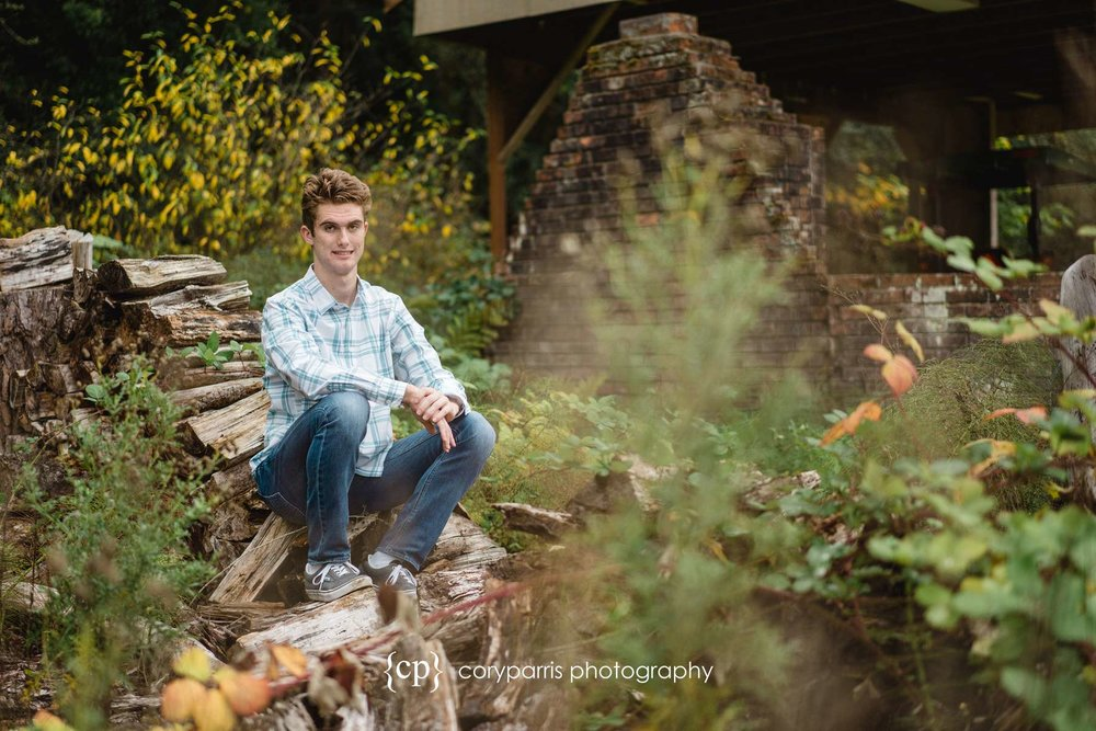 Blake, North Creek High Senior, sitting for a portrait at the former Wayne Golf Course