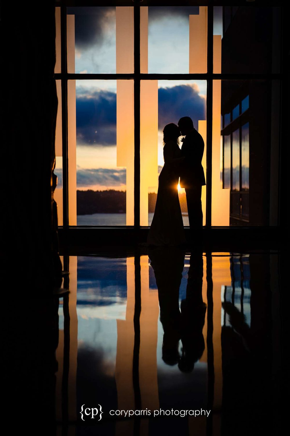 Taryn and Mark kiss at just before they elope at the Seattle Municipal Court. I love this image!