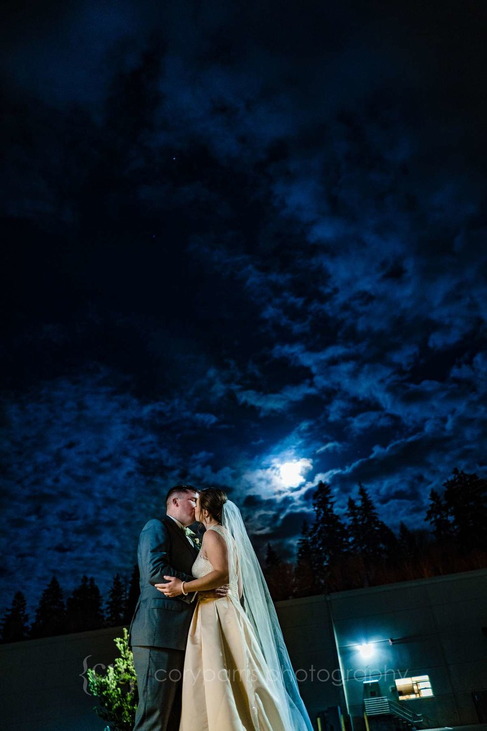 Elizabeth and Don at Brightwater Event Center. Very cool image taken in near complete darkness!