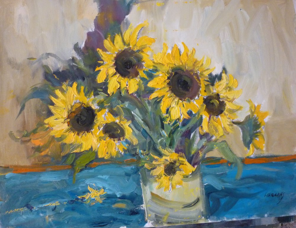 Yellow Sunflowers  by Leonard Brooks