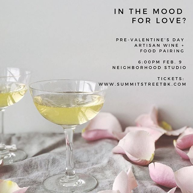 Warm up for Valentines Day with @summitstreetbk - she is holding a super fun wine + {aphrodisiac} food pairing on Saturday 9 February at 6pm. See her profile for tickets. Plus have you been to the studio in the Winter? It's warm and cosy, a romantic place to be! This is one for friends and lovers.