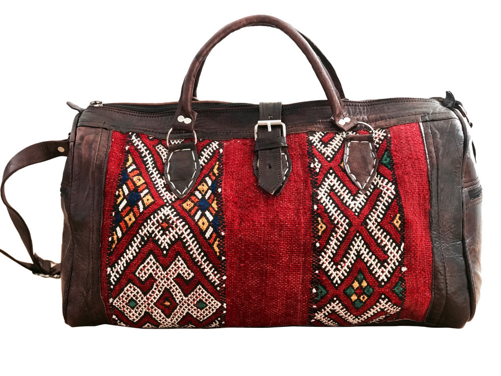 bc68c3125e55 Moroccan Weekender Bag - Red — Moroccan Soul