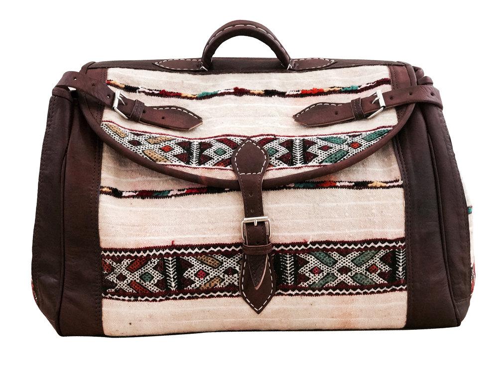 94d83f0082dc Moroccan Duffle Bag - Cream — Moroccan Soul