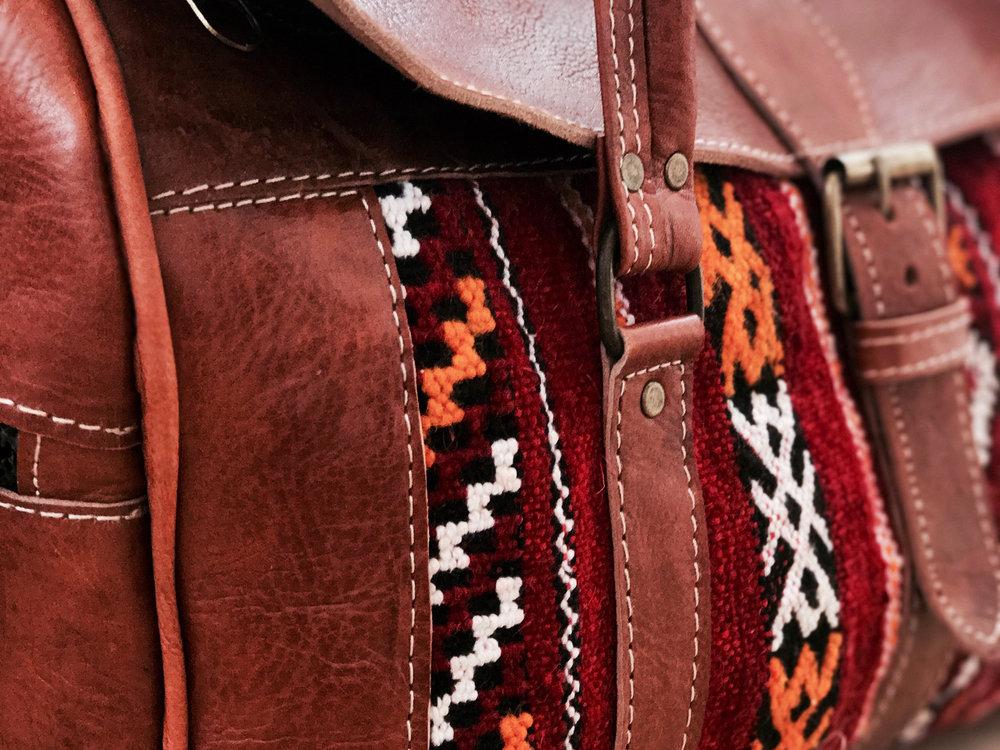 fbb9d6122f49 Moroccan Messenger Bag - Red — Moroccan Soul