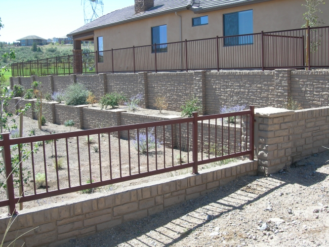 Wrought iron fencing titan architectural products of utah for Prefab basement walls cost