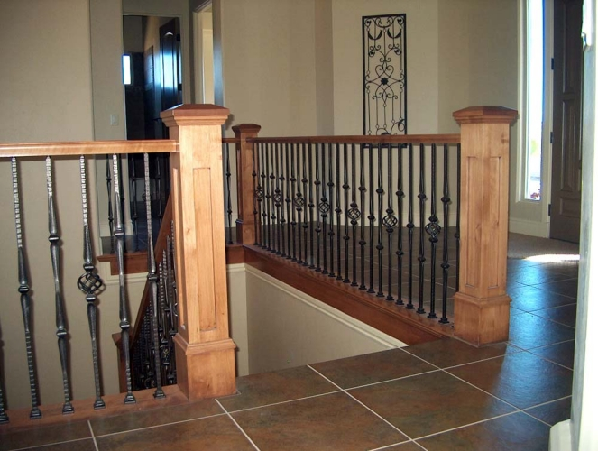Wood Amp Iron Baluster Combinations Titan Architectural