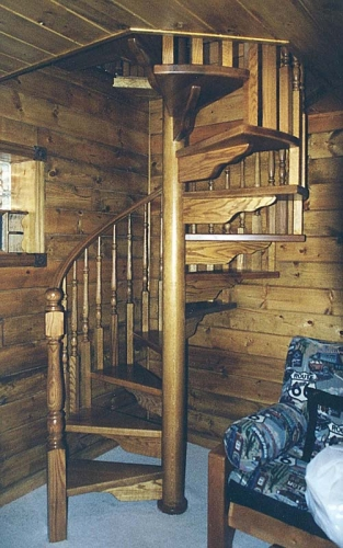 Rustic Spiral Stair