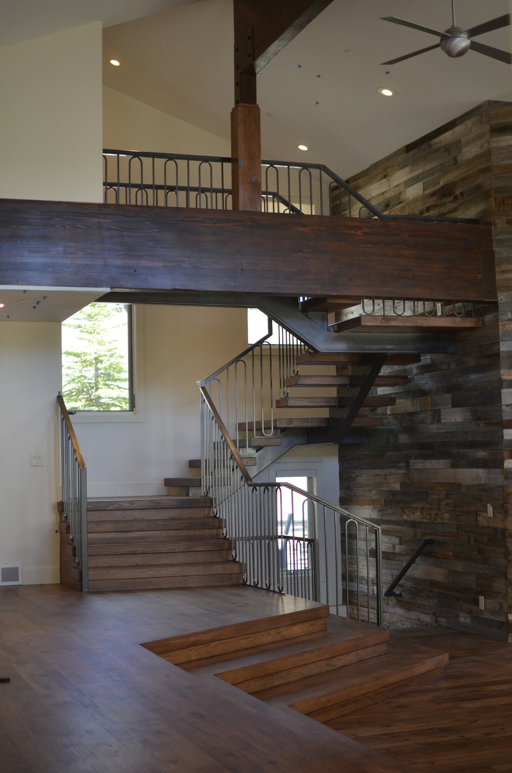 Freestanding Single Stringer Hickory Staircase.jpg