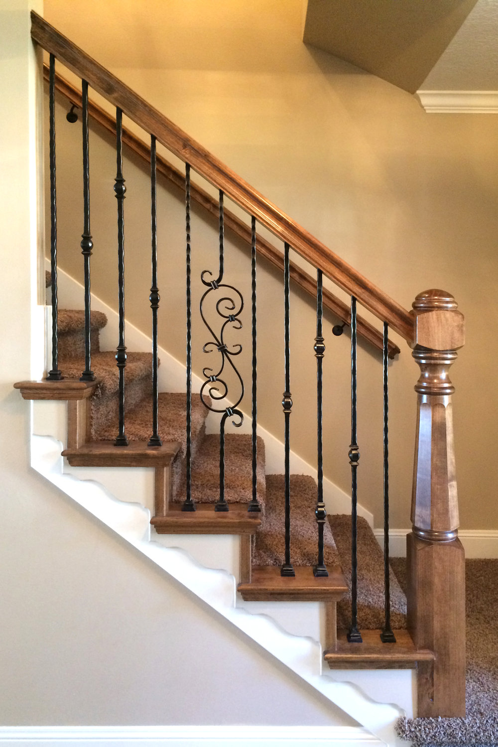 Hammered Iron Balusters Custom Post