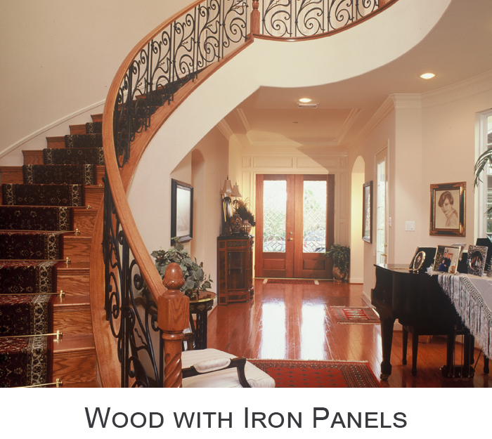 Wood with Iron Panels