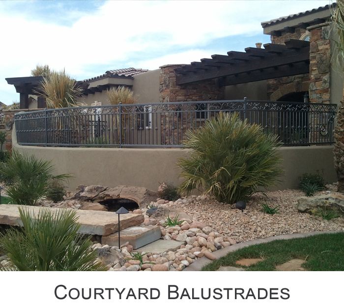 Courtyard Balustrades