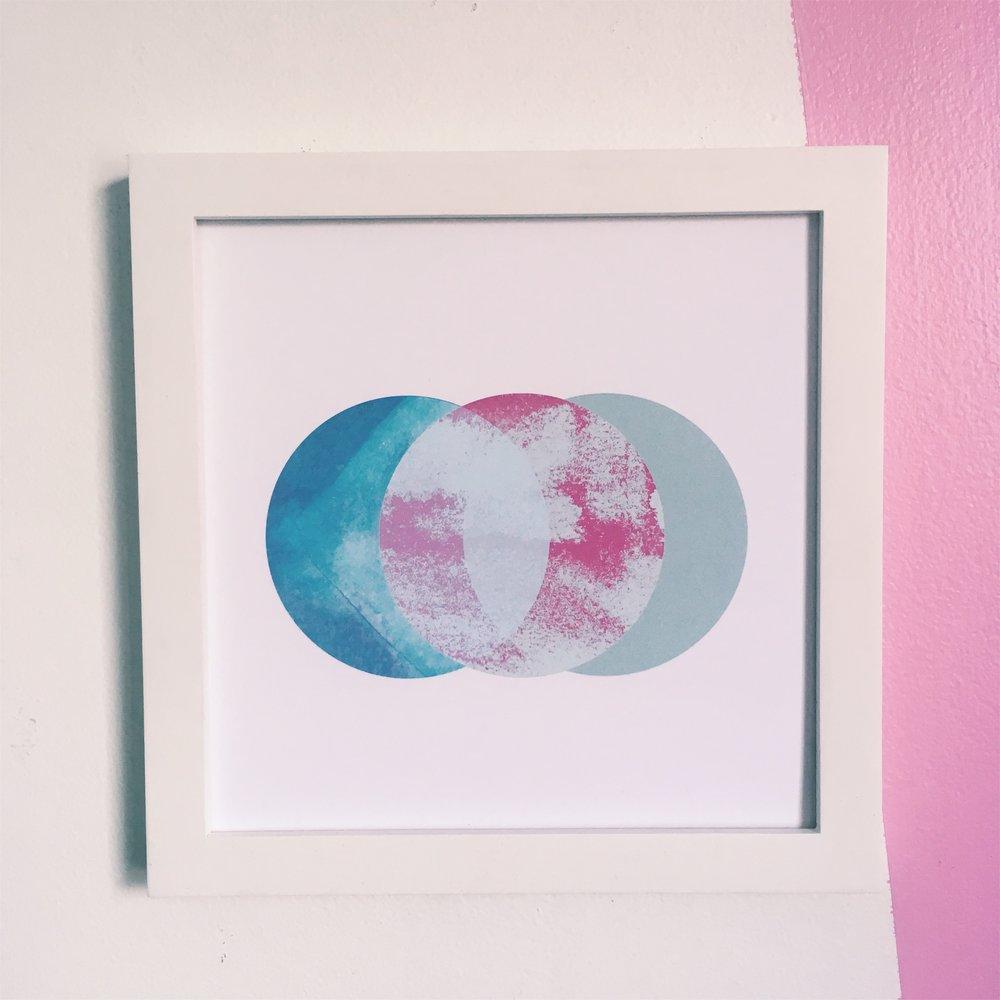 """I'll Be Kinder, 8x8"""" digital print on fine art paper"""