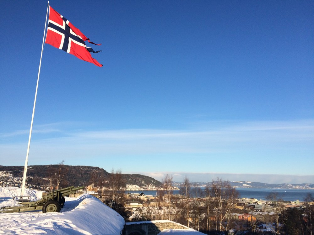 Visiting Kristiansten Fortress in Trondheim. The days are getting longer!