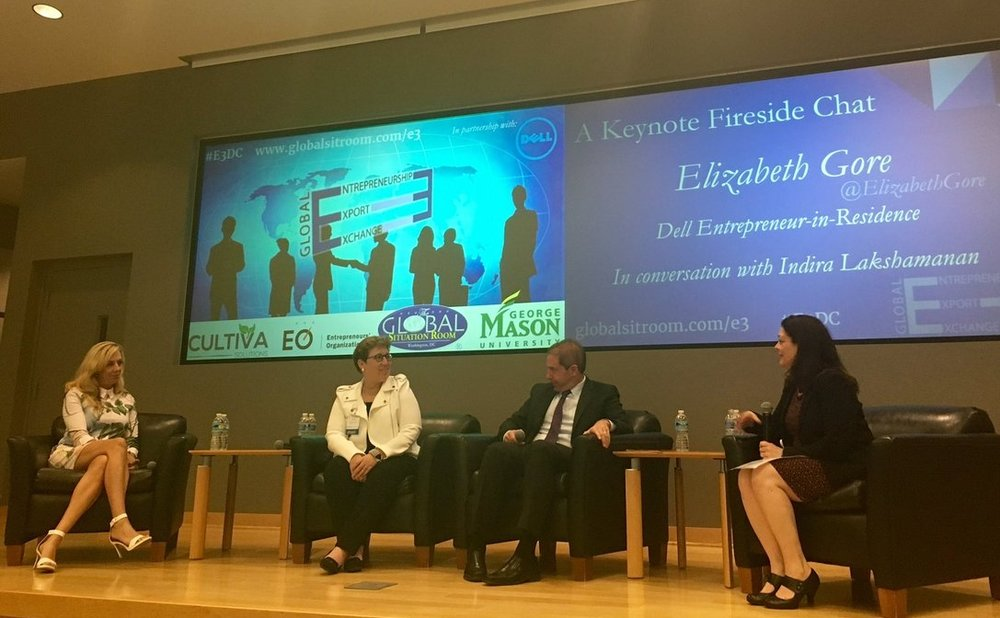 2016 E3 DC - The first Entrepreneurship Export Exchange was hosted by George Mason University and featured senior State Department, Commerce, and US Trade Representative officials, along with a keynote by Elizabeth Gore.