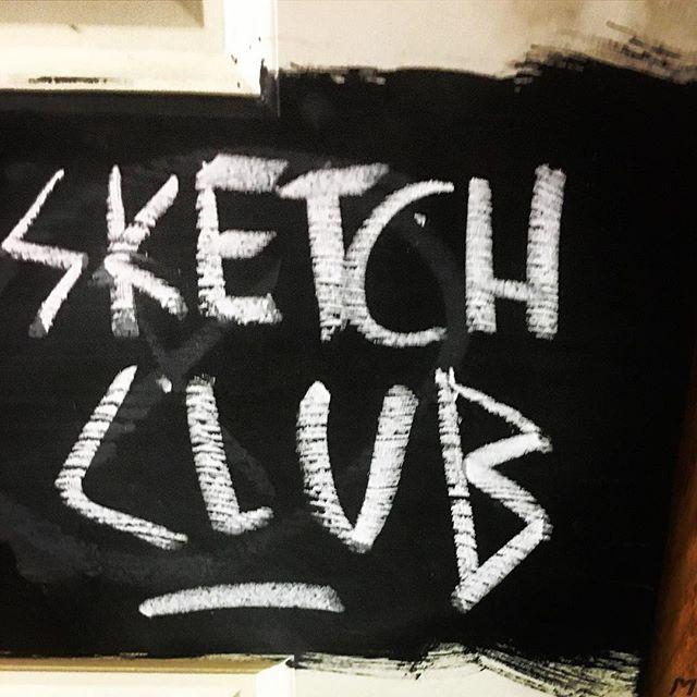 'Sketch Club' in some pretty killer chalk font... #chalk #font #indierock #indiemusic #livemusic #bakehousestudios #melbourne #rockandroll