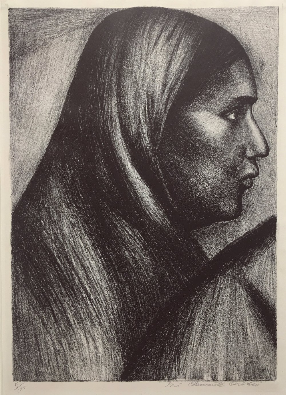Jose Clemente Orozco Title  Mujer Mexicana Medium  Lithograph  Date  1929  Size 35.5 x 24.7cm  Courtesy of Bond Latin Gallery copy.jpg