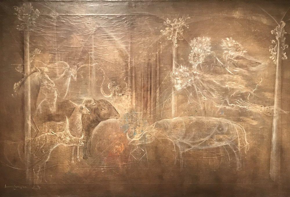 Animales (animals), oil on canvas, circa 1965.