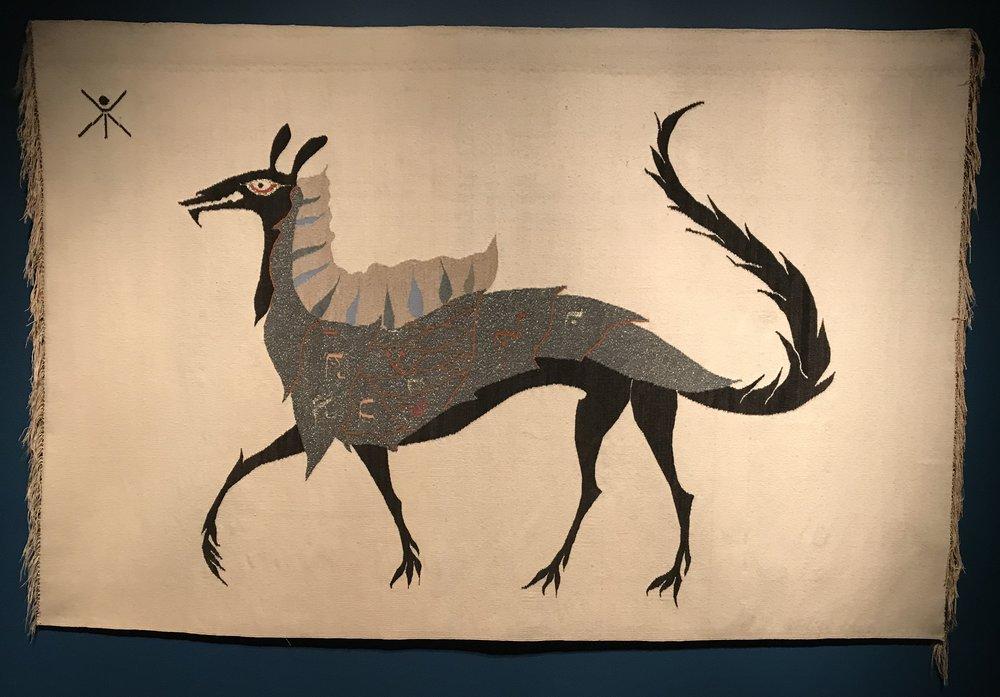 Beastia Sobre Fondo Color Aveno (Beast on Oatmeal Background) , 1956 Wool Tapestry.